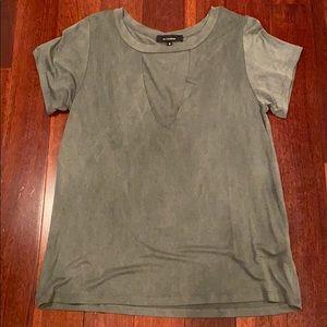 Grey choker top